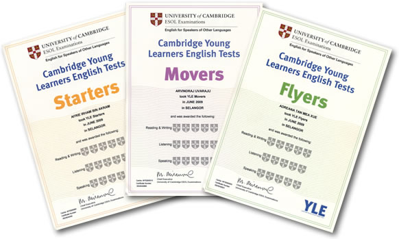 YLE Certificates